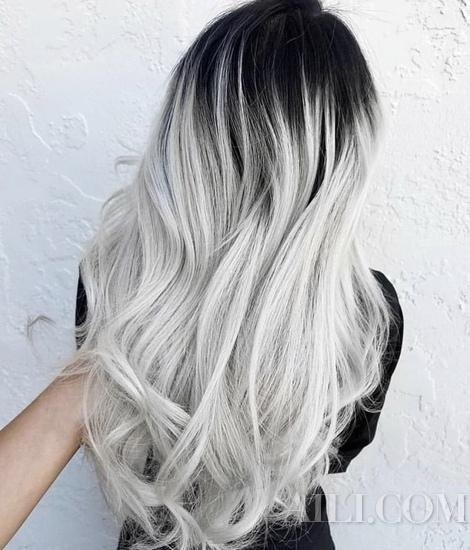 春季爆亮的精灵灰系发色 灰、蓝灰、紫灰色都让你好美
