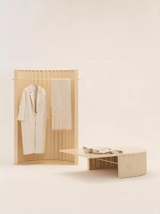 作品:Ondula系列家具,设计:Flatwig Studio